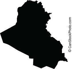 Vector illustration of maps of  Iraq