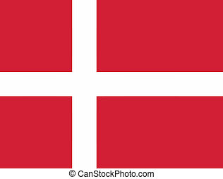Vector illustration of the flag of Denmark