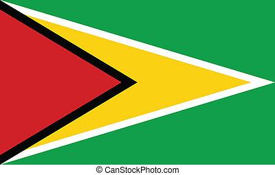 Vector illustration of the flag of Guyana