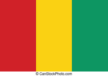 Vector illustration of the flag of   Guinea