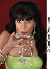 Happy Woman With Martini