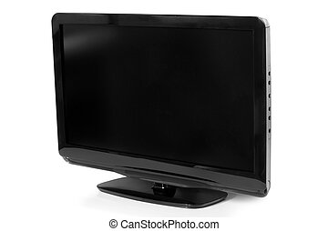 TV flat screen lcd on a white background