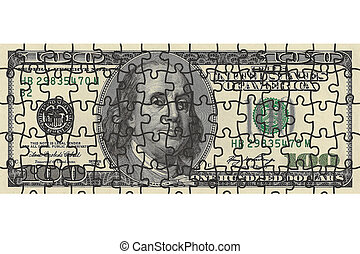 one hundred dollar bill puzzle - one hundred dollar bill...