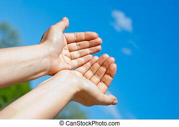 deux, mains
