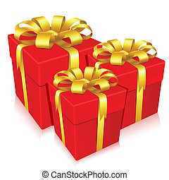Gift Box - illustration of gift box on isolated background