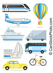 Transportation icon - illustration of transportation icon on...