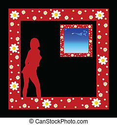 girl in the picture frame