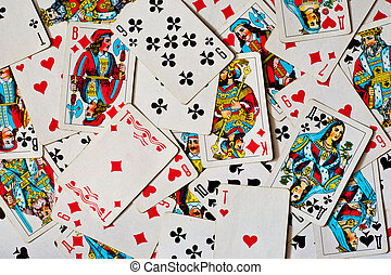 playing cards - background made of playing cards