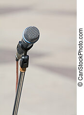 Microphone on stage - Music performance outdoors