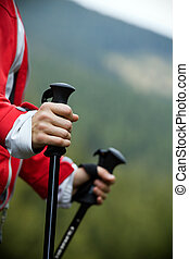 Nordic Walking in mountains - Nordic Walking in Autumn...