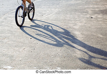 Boy riding on mountain bike