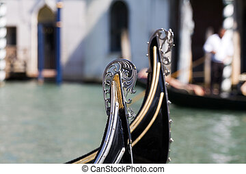 Gondola in Venice - Canals and boats in Venice, Italy