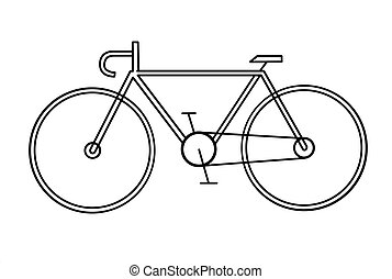 drawing of the bicycle on white background