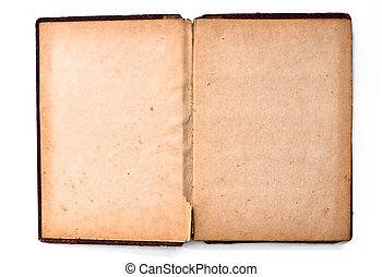 blank page of old book