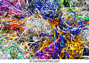 tinsel background - background made of a color tinsel