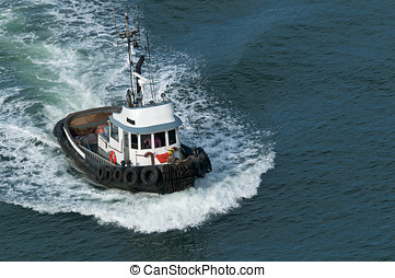 Tough Tugboat - A tough little tugboat.