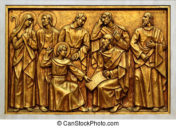 Mysteries of the Rosary - Bas-relief of the Basilica of...