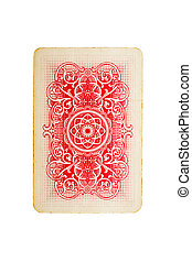 playing card isolated on white background