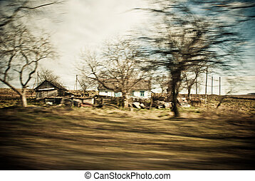 country house at high speed motion