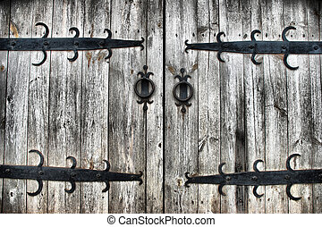 old wooden gates as a background
