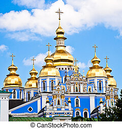 church in ukraine - beautiful church in ukraine on a sunny...
