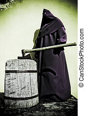 executioner - old dark executioner with axe