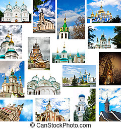 set of churches - set of christian churches outdoors