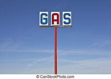 Tall Vintage Gas Sign