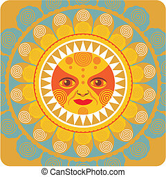 Estival Sun - Concentric decorative illustration of the...