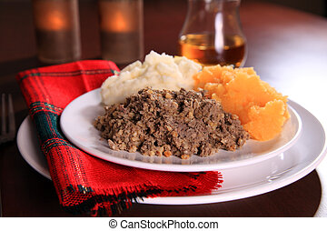Burns Night Haggis - Scottish Haggis Serving For A Burns...