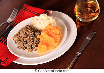 Scottish Haggis Supper - Scottish Haggis Table Setting For A...