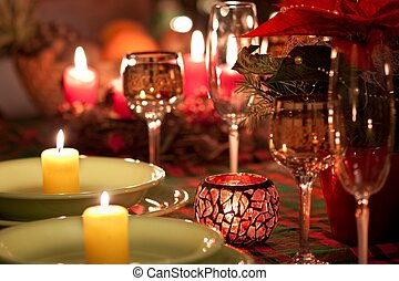 Christmas place setting - Beautiful place setting for...
