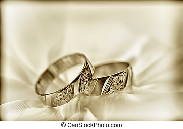 Wedding rings - Wedding detail with beautiful rings