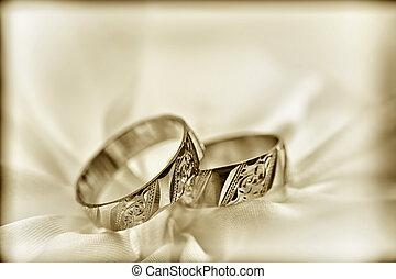 Wedding rings - Wedding detail with beautiful  rings