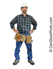 Happy Construction Worker - A smiling man in a hardhat...
