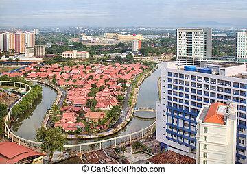 Malacca Cityscape with Melaka River