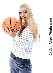 beautiful girl with a  ball