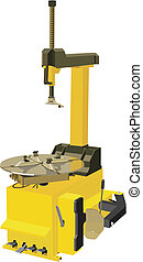 Tire changer - Vector image tire changer on the white