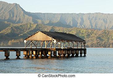 Hanalei, salida del sol,  Kauai, bahía