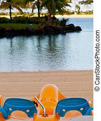 plage,  pedalos,  océan