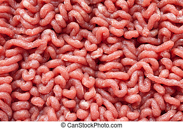 Minced beef - Close up raw ground beef