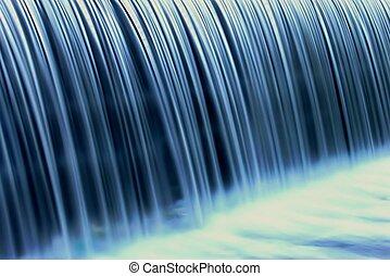 Blu weir  - Closeup of a weir waterfall