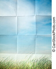 Color on Crumpled paper - Sky style Color on Crumpled paper...