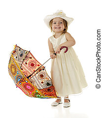 Toddler with Coloful Parasol