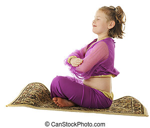 """Genie Taking Off - A young elementary """"genie"""" preparing to..."""