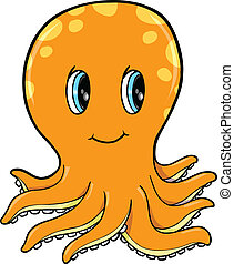 Cute Little Octopus Vector Illustration