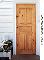 House door made from wood
