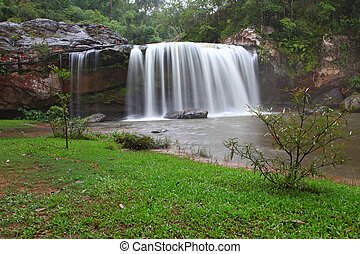 Tropical Rainforest Waterfall in Forest National park of...