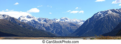 Arthur's pass National Park New Zealand - Panorama southern...
