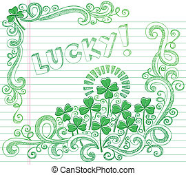St Patricks Lucky Four Leaf Clover